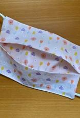 Mondmasker Kids - Lila Flowery Enveloppe