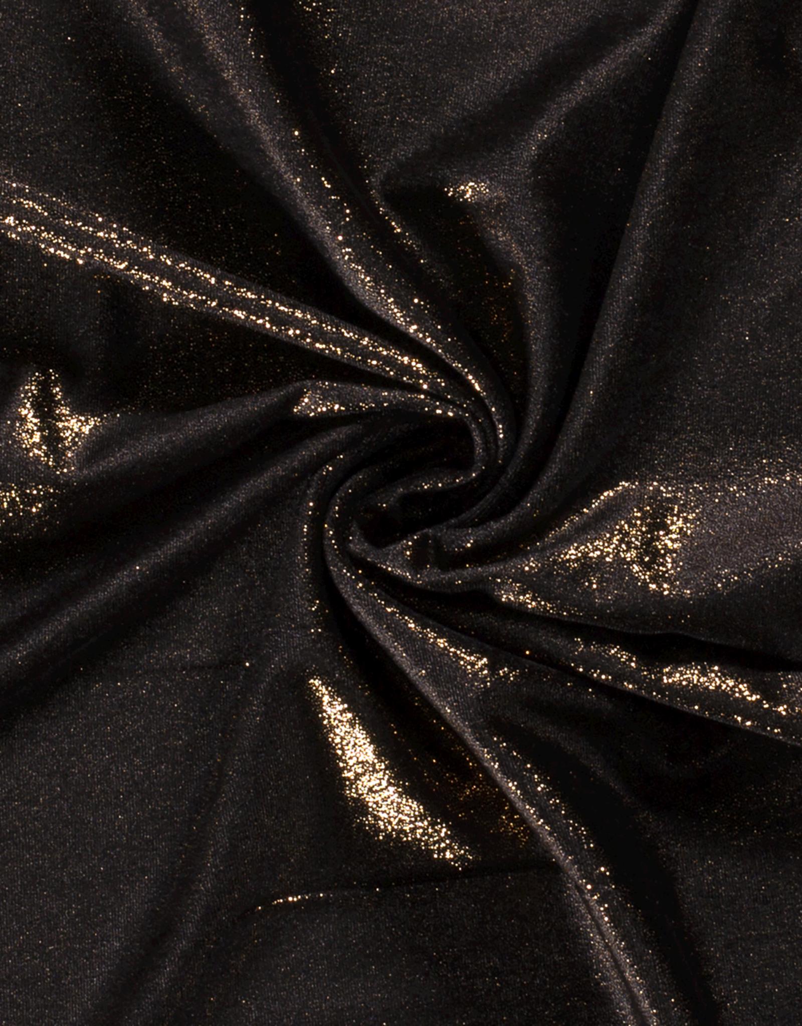 Glittervelvet - Black/Gold