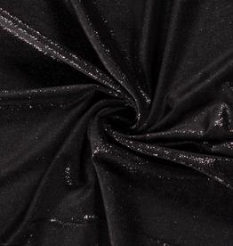 Glittervelvet - Black/Silver