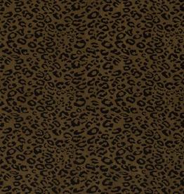 Suedine - Cheetah Olive