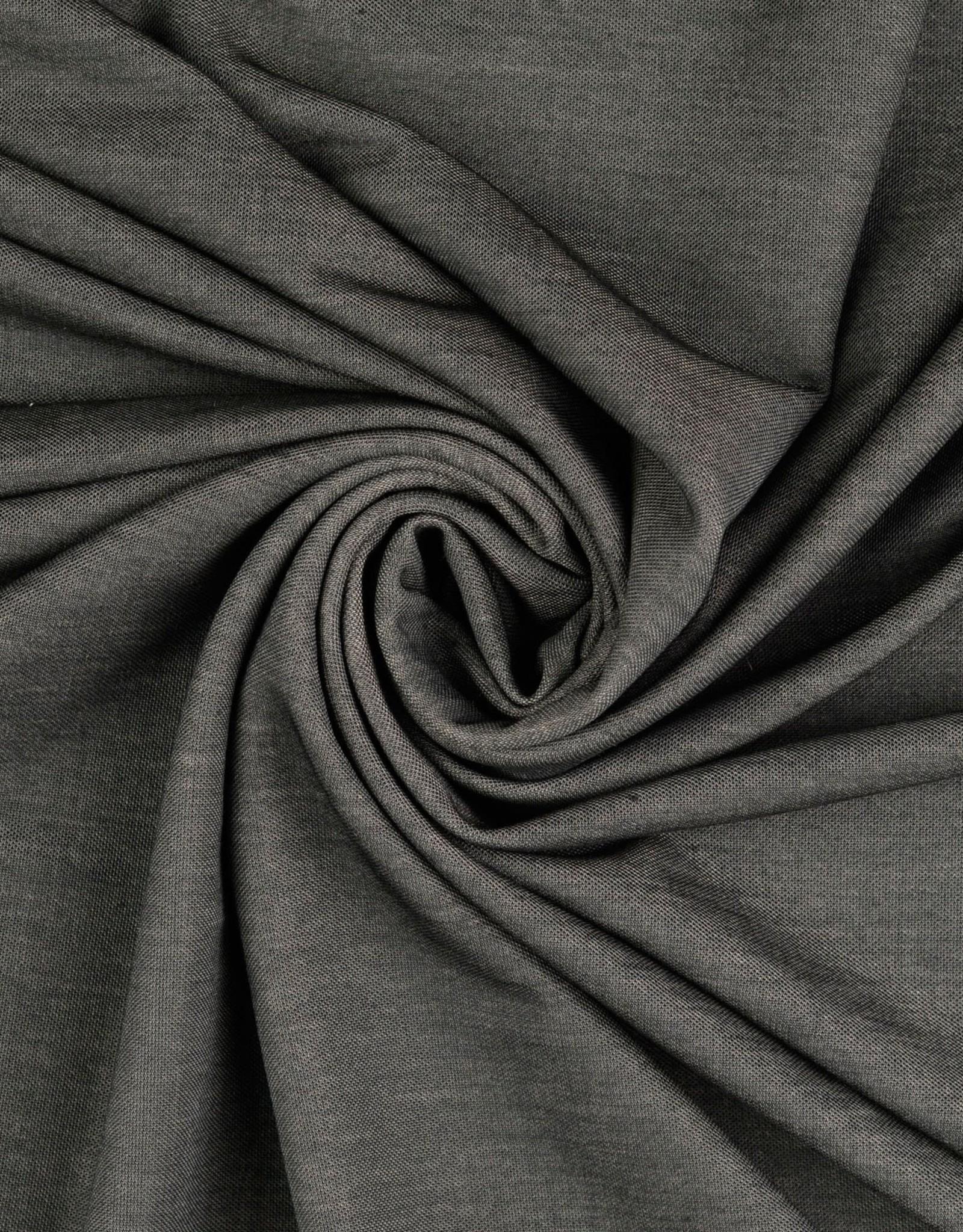 Viscose - Jeanslook Zwart