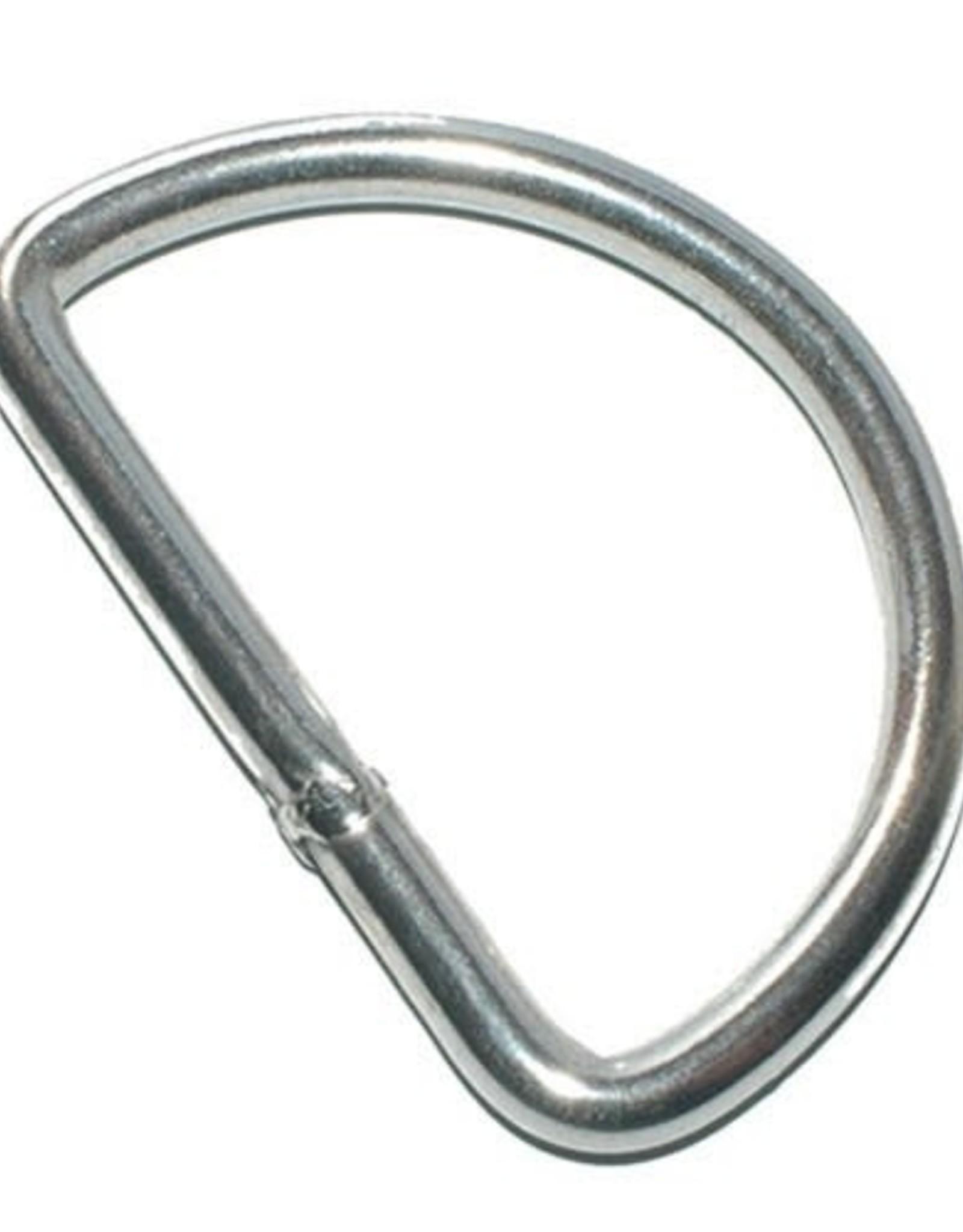 D-ring - 40mm - Zilver