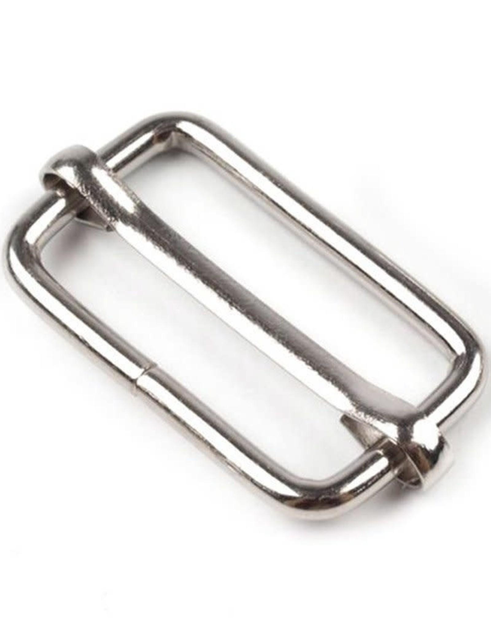 Schuifgesp 20mm - Zilver