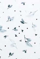 Katoen - Little Leaves Grey