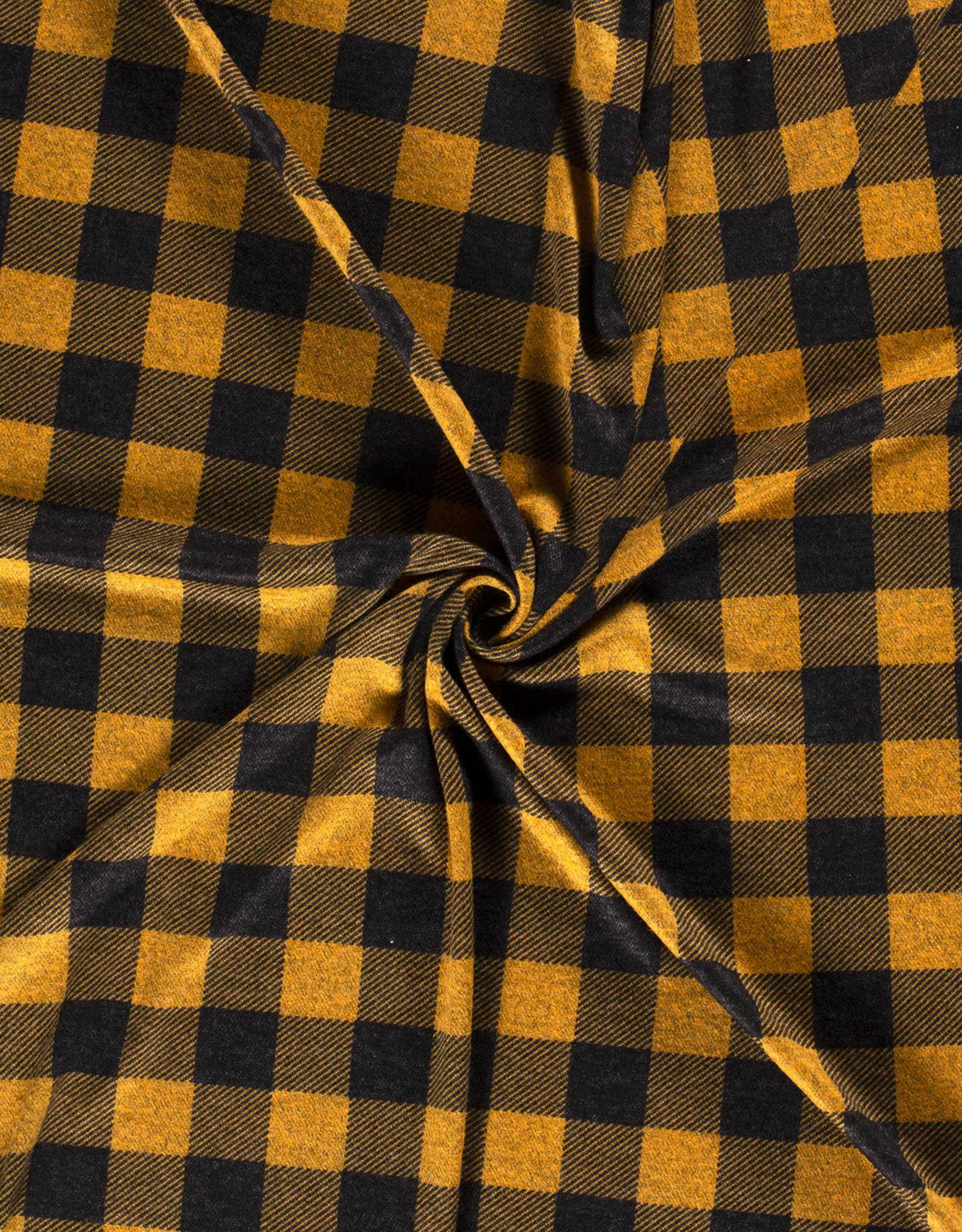 Knitted - Tartan Ochre/Black