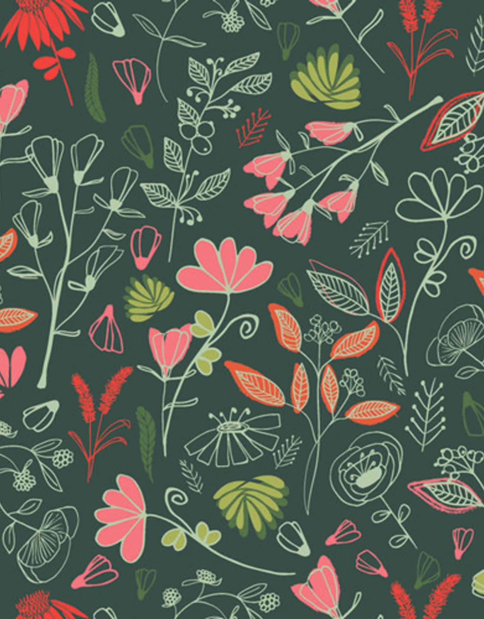 Art Gallery Fabrics Katoen - Glowy Bosque