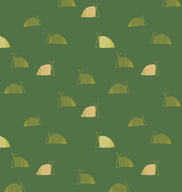 Art Gallery Fabrics Katoen - Moss Snail