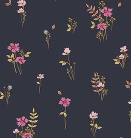 Art Gallery Fabrics Katoen - Covent Garden Black