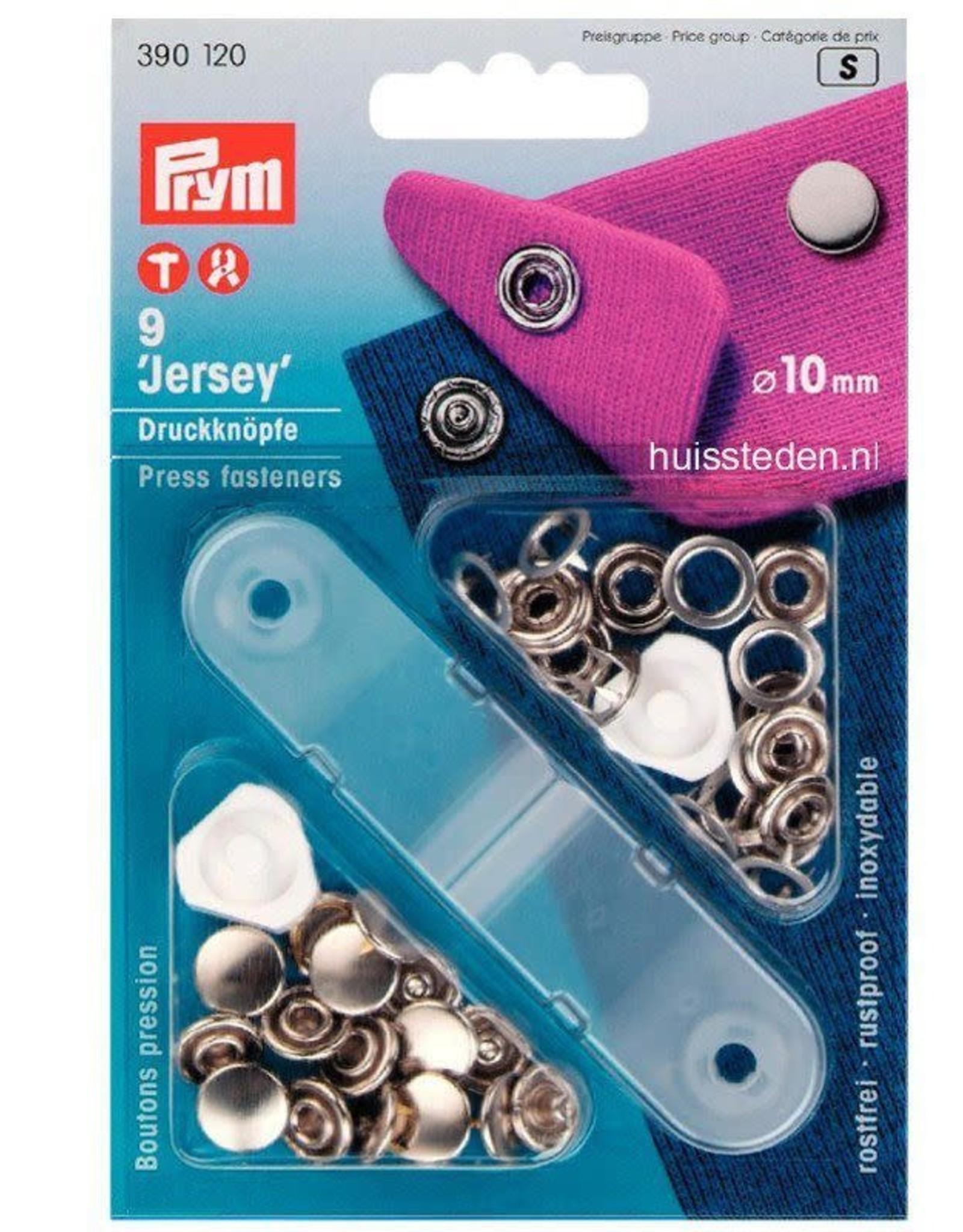 Prym Prym 390.120 - Gesloten Jersey drukknopen - 10mm - Zilver