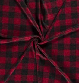 Knitted - Tartan Red/Black