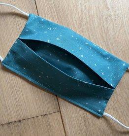 Mondmasker - Stars Smaragd- Enveloppe