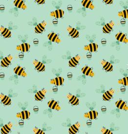 Katoen - Little Bee Mint