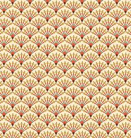 Katoen - Waaier Abstract - Lichtgeel