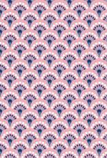 Katoen - Waaier Abstract - Zachtroze