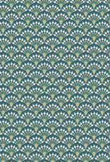 Katoen - Waaier Abstract - Donkergroen