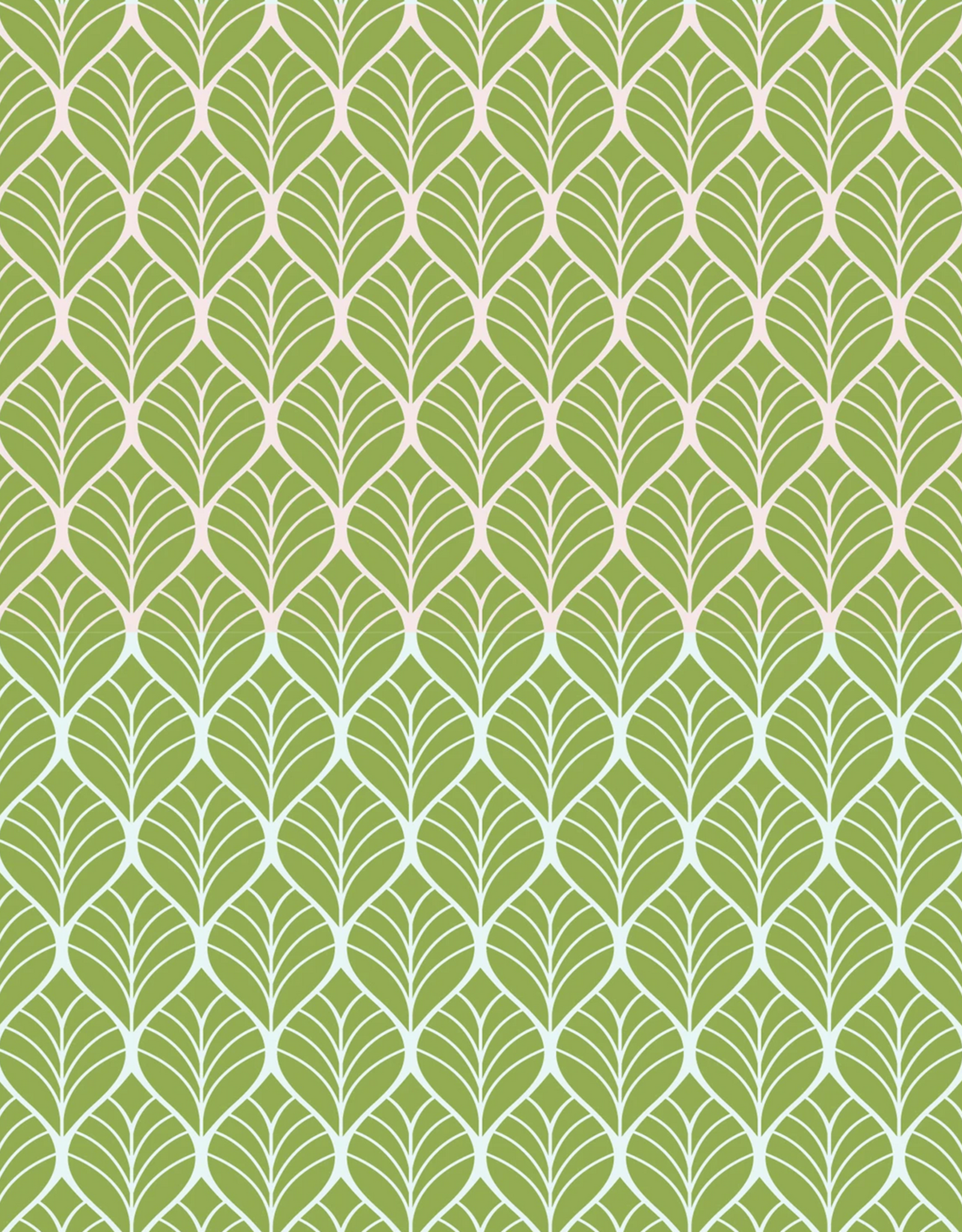 Katoen - Leaves Lime