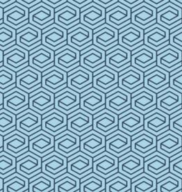 Katoen - Abstract Blue