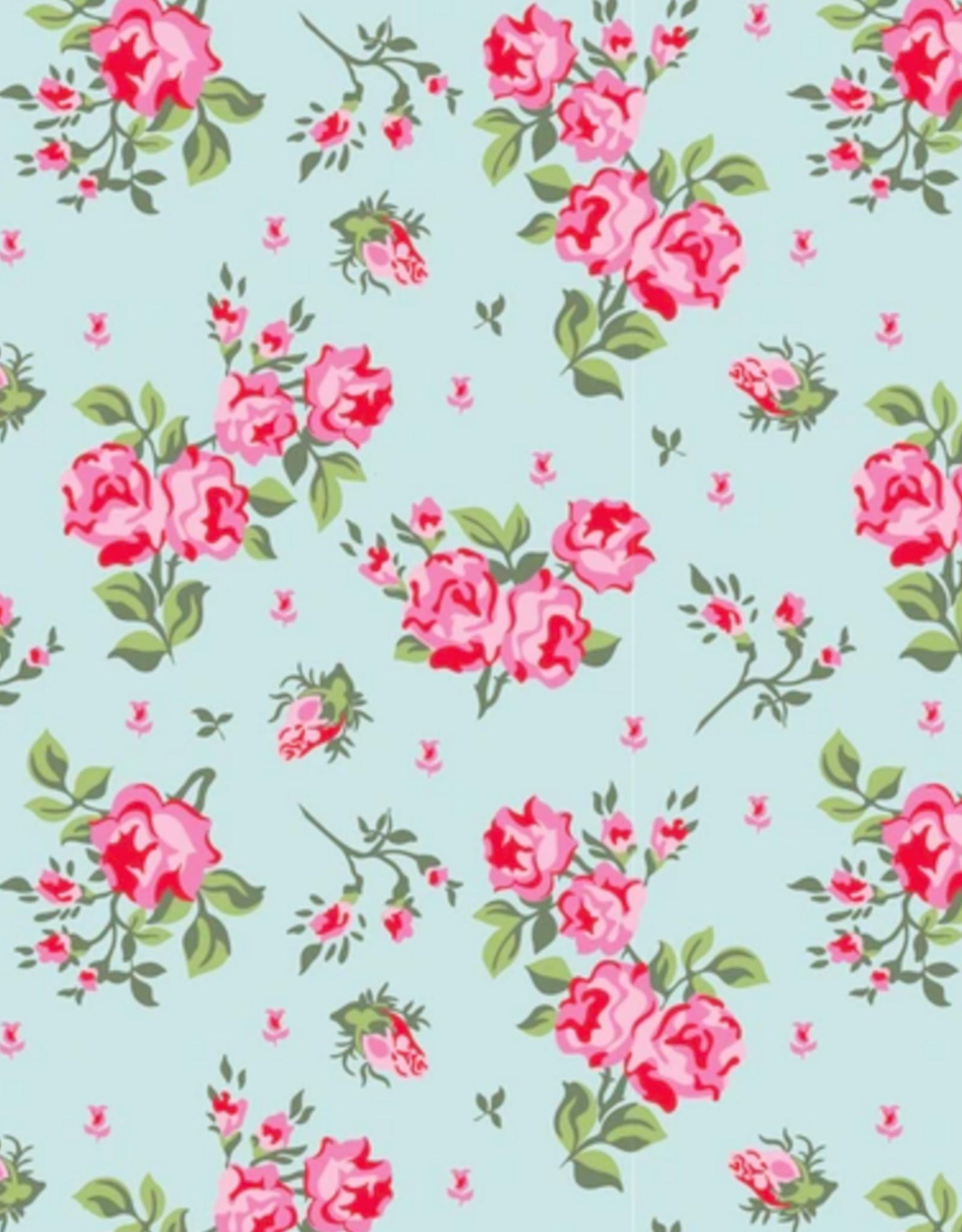 Katoen - Roses Mint