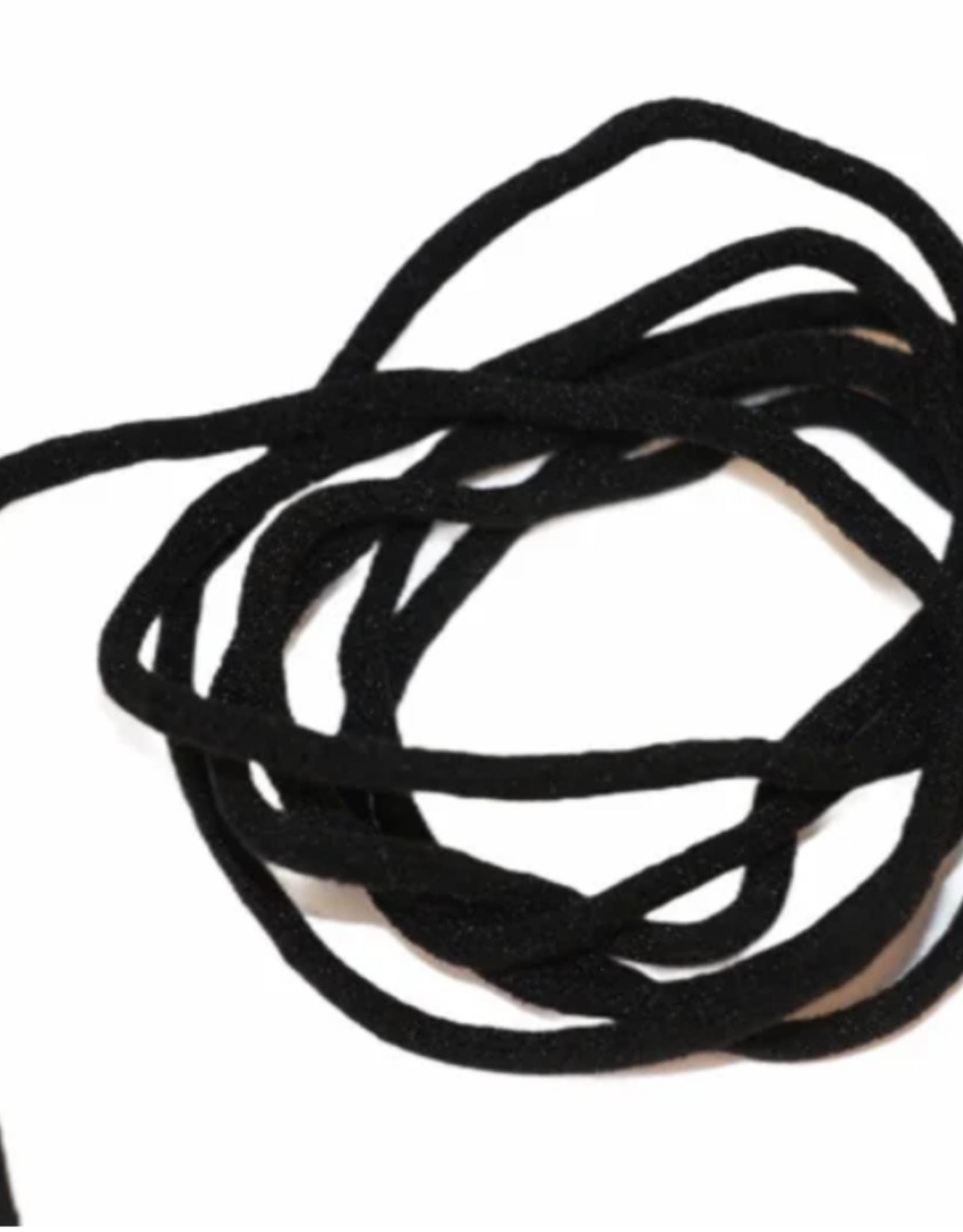 Elastiek soft voor mondmaskers ZWART - 3mm - Bundel van 5 meter