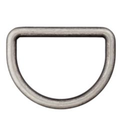 D-ring 15mm - Grijs
