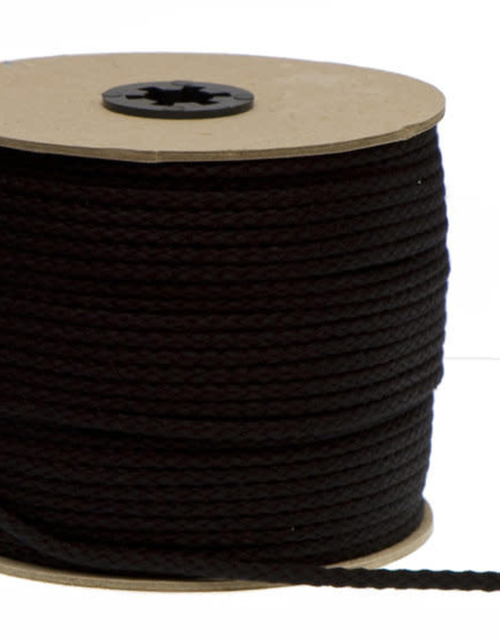 Katoenen Koord Zwart - 5mm
