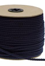 Katoenen Koord Marineblauw  - 5mm