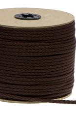 Katoenen Koord Donkerbruin  - 5mm