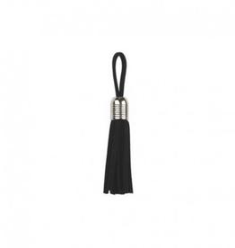 Tassel - Zilver 5mm - Zwart