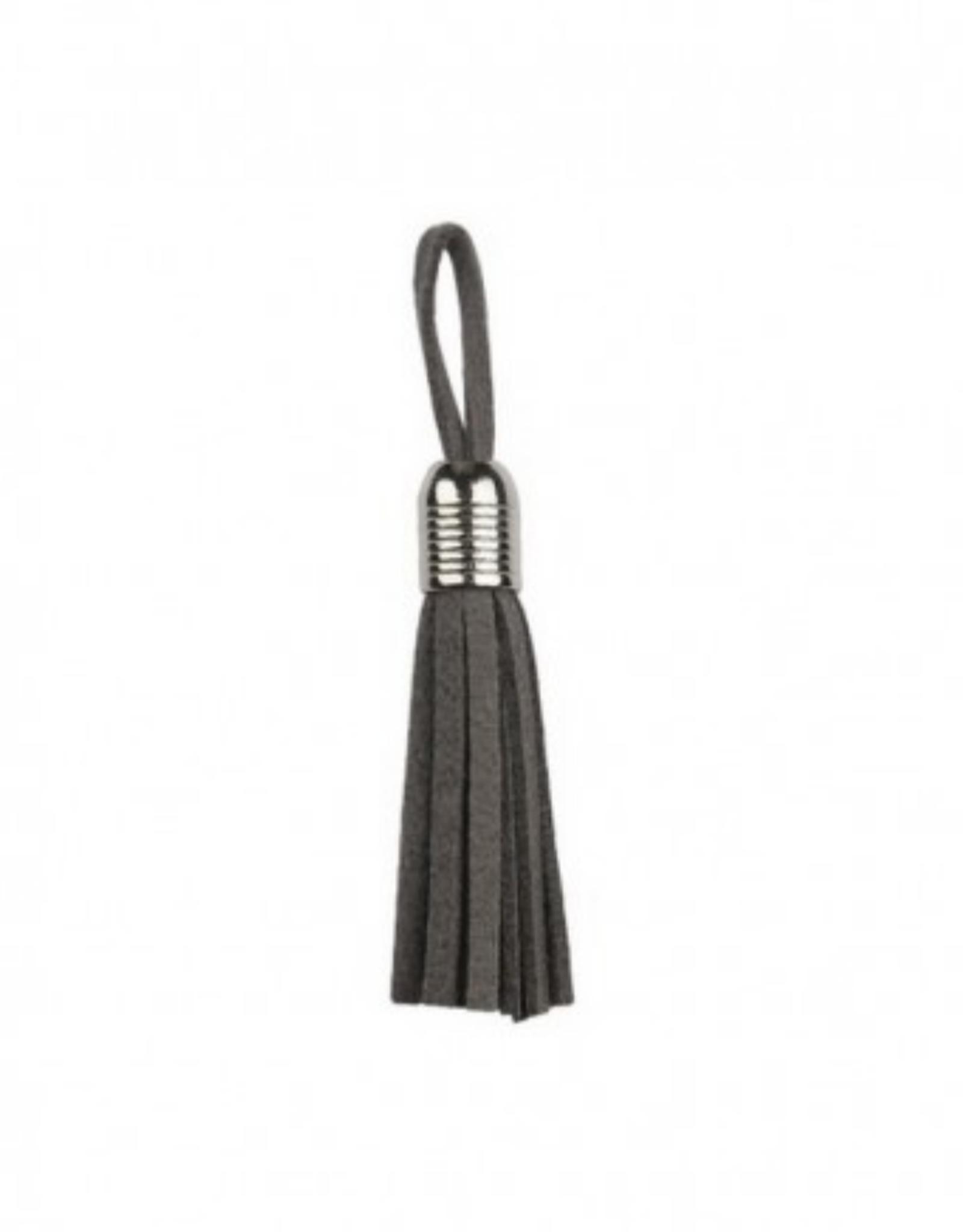 Tassel - Zilver 5mm - Grijs