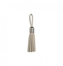 Clover Tassel - Zilver 5mm - Ecru