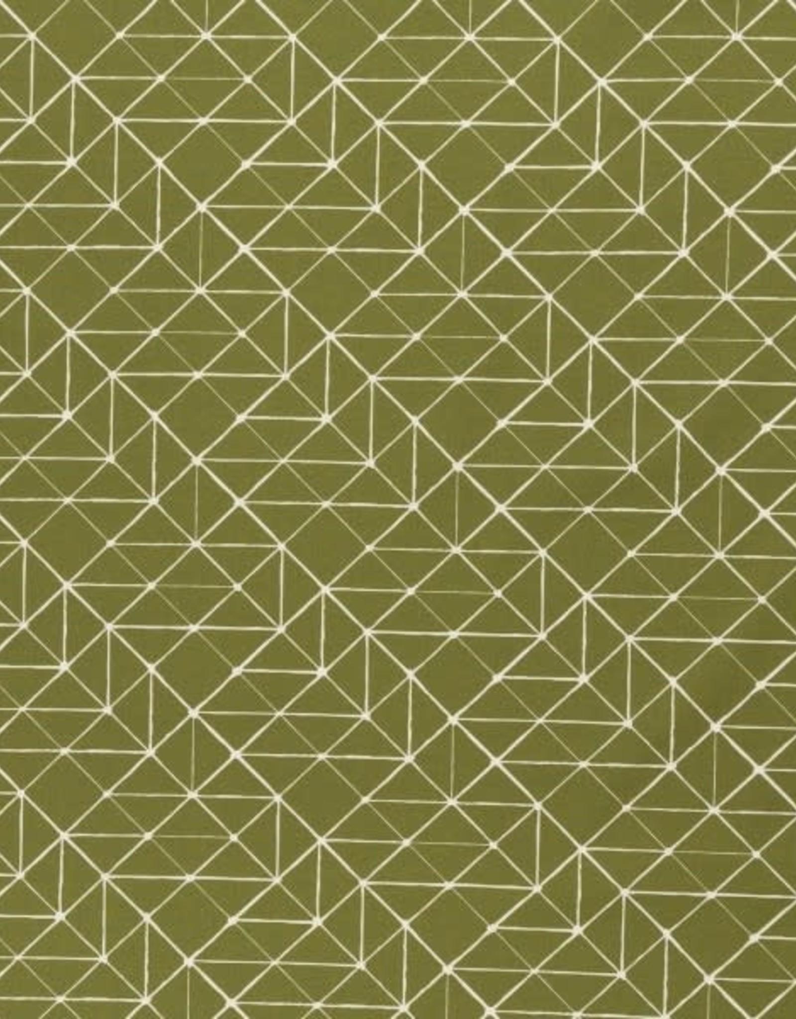 Katoen - Geo Lines Khaki