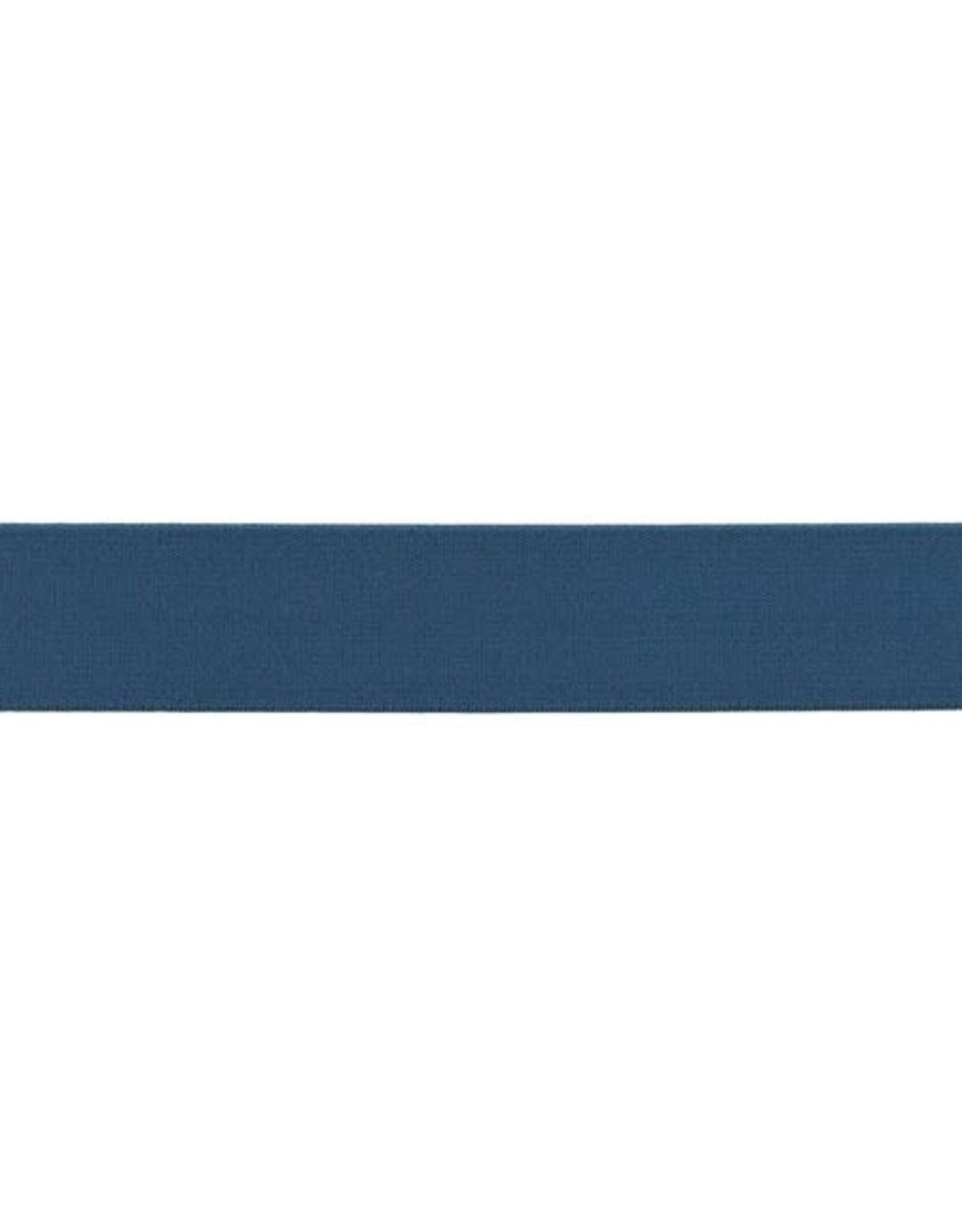 Soft elastiek 25mm - Jeansblauw