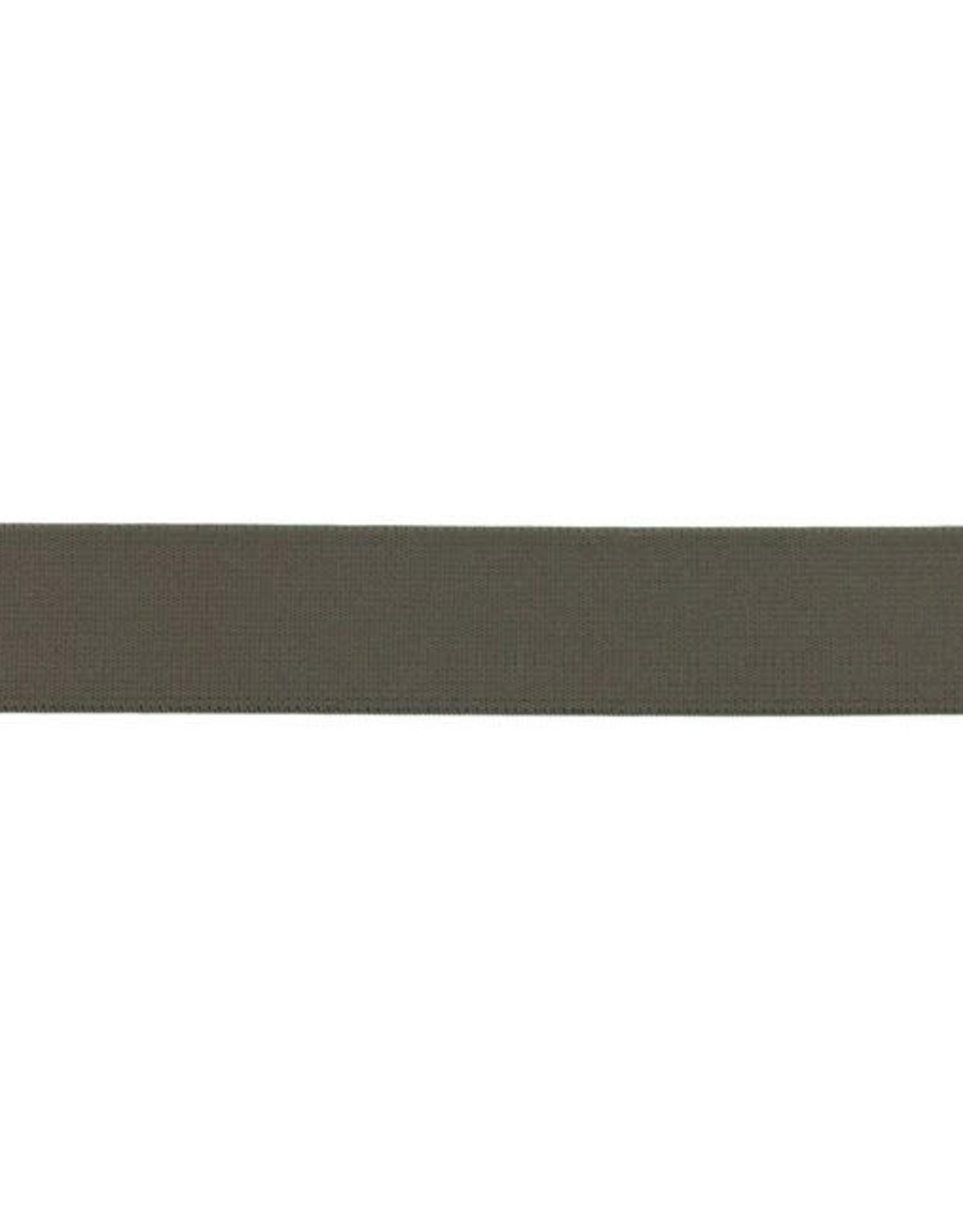 Soft elastiek 25mm - Donker Taupe