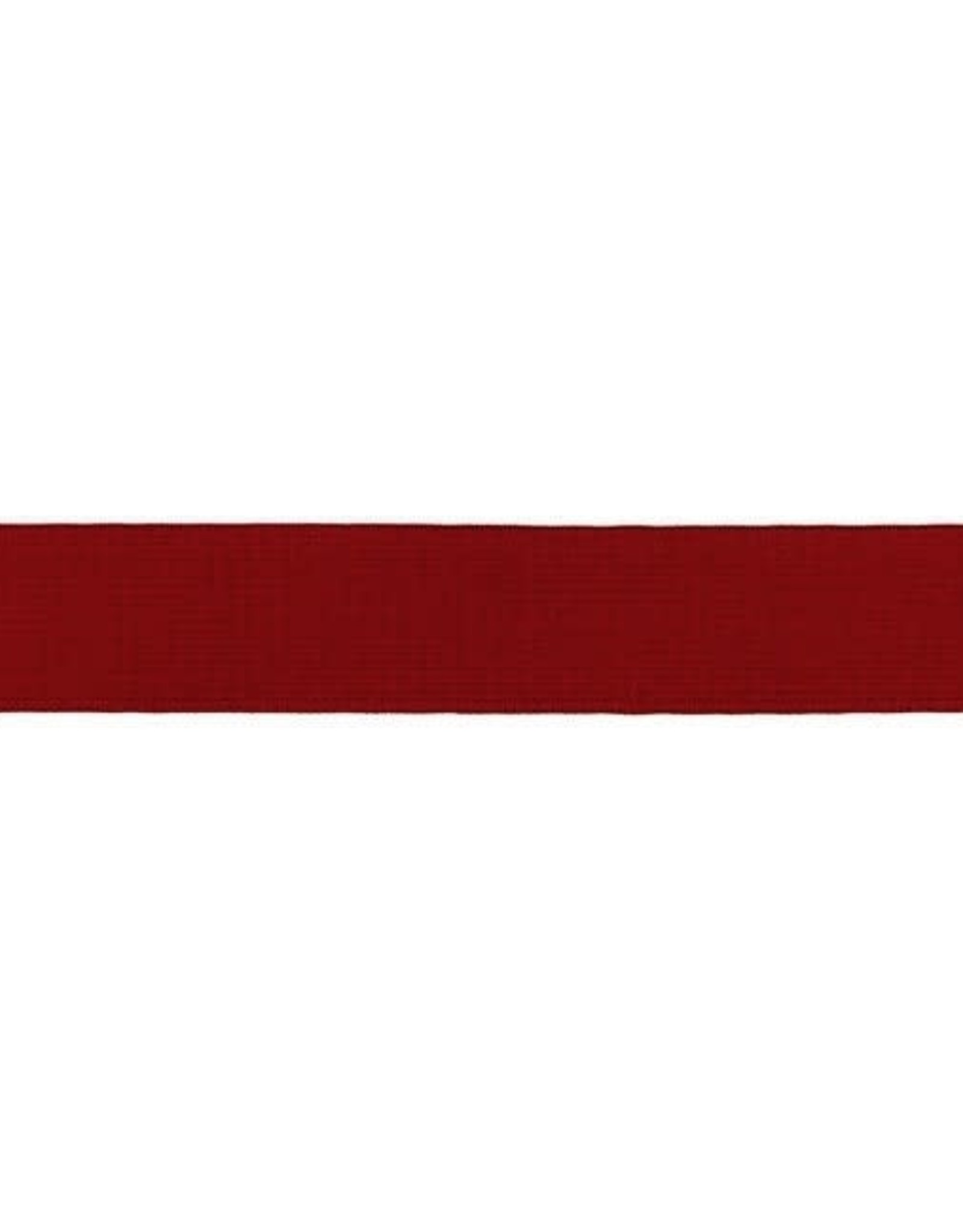 Soft elastiek 25mm - Bordeaux
