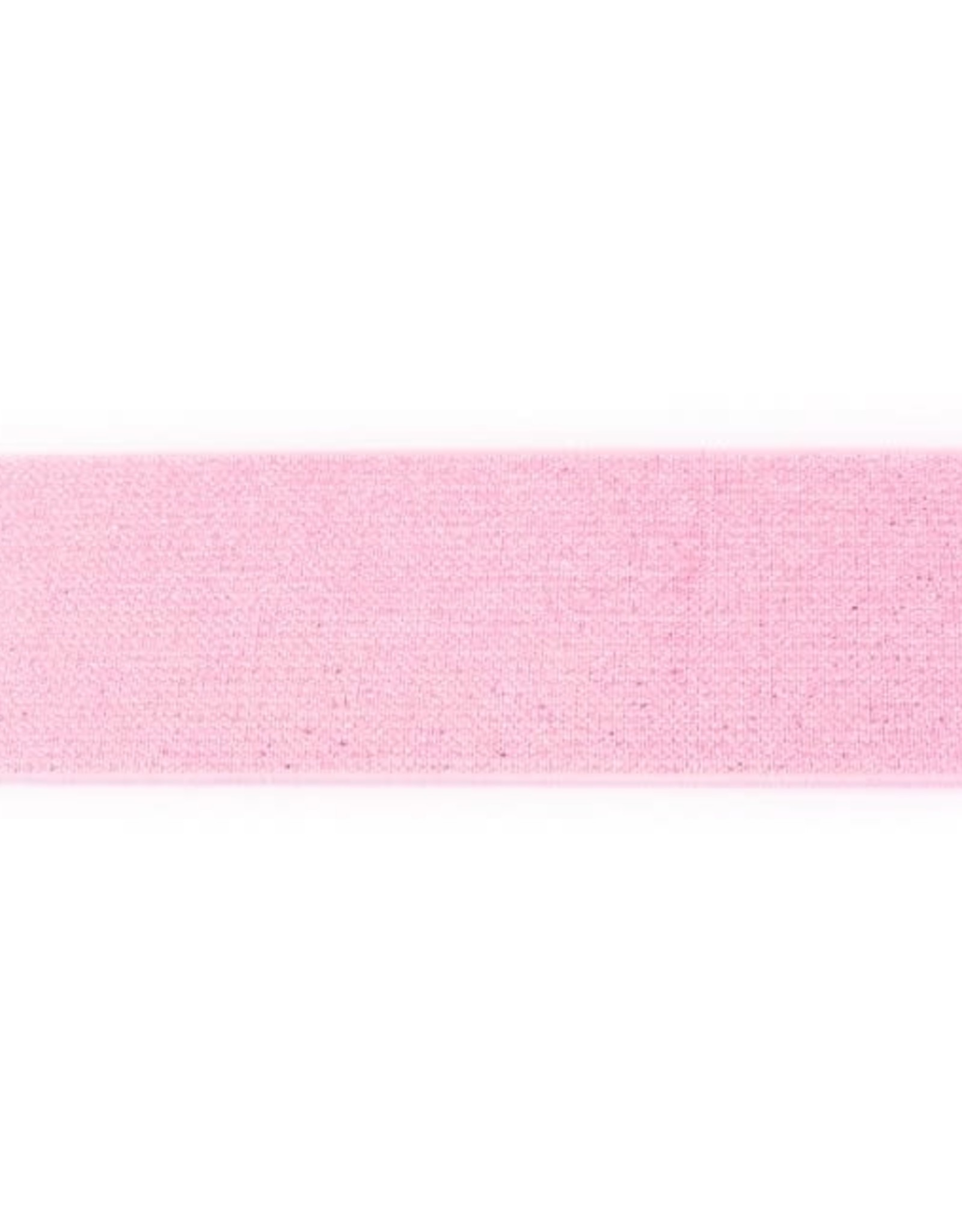 Glitterelastiek 50mm - Roze