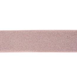 Glitterelastiek 50mm - Taupe
