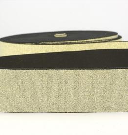 Glitterelastiek Soft 40mm - Goud