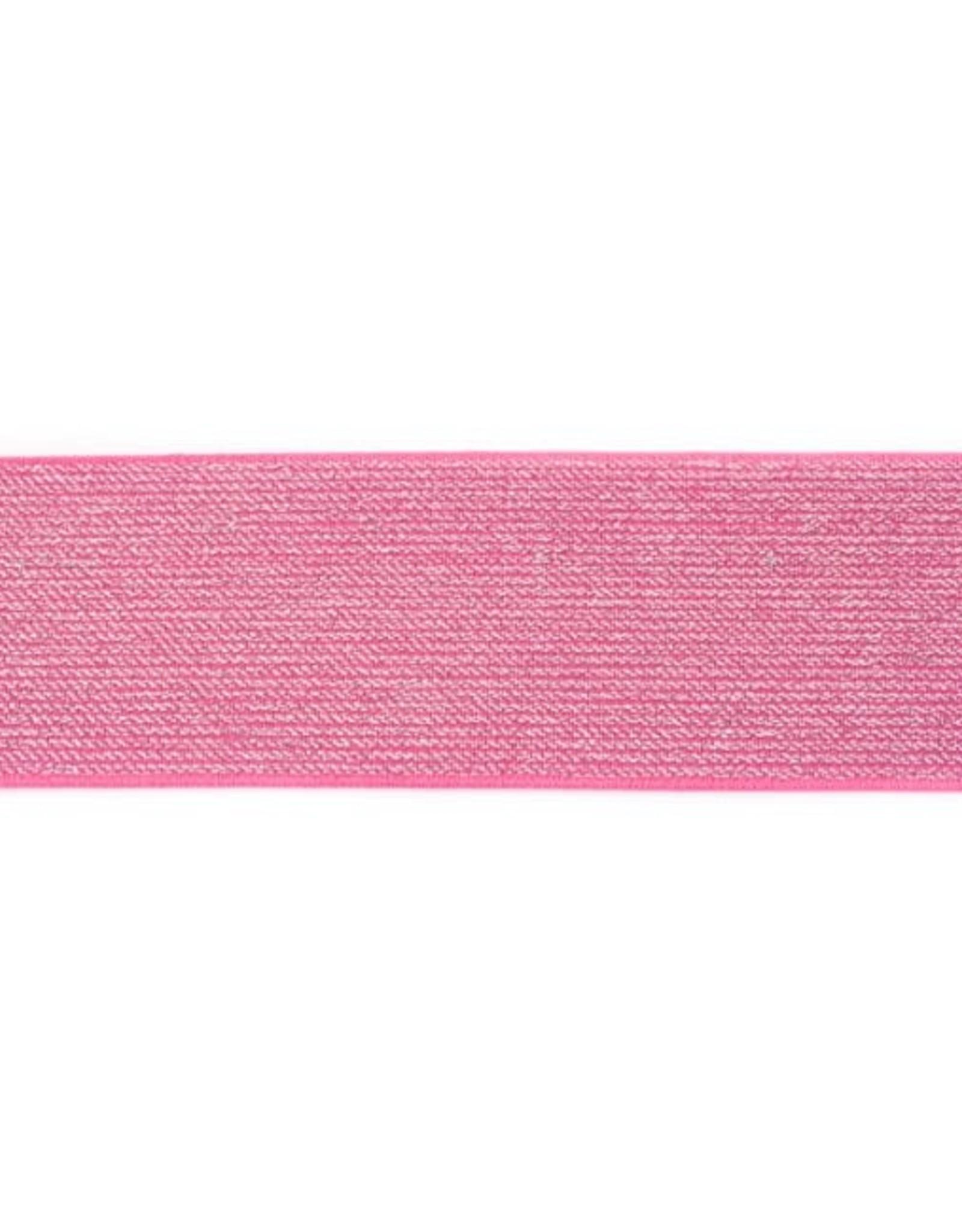 Glitterelastiek 50mm - Fuchsia