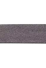 Glitterelastiek 50mm - Zwart
