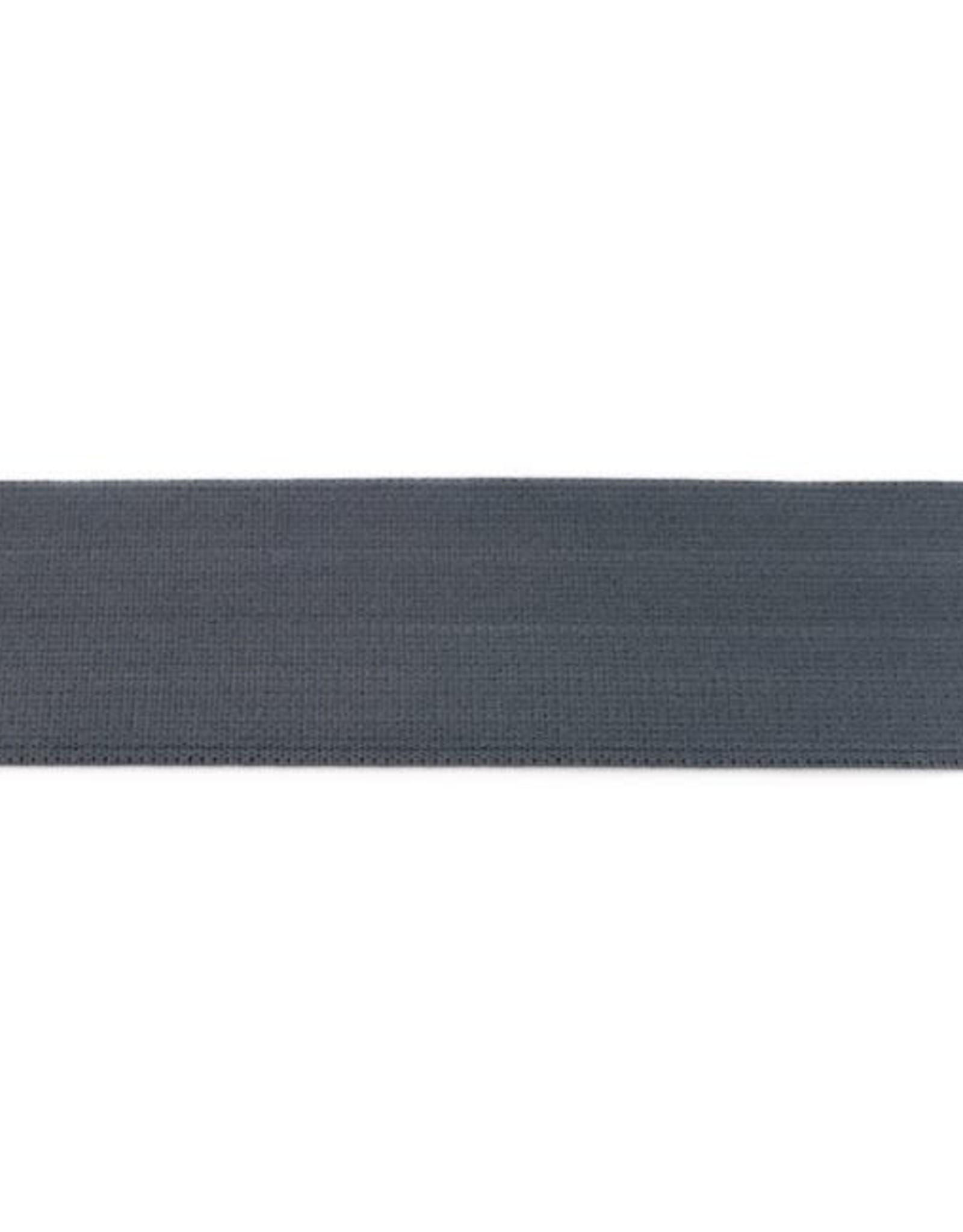 Soft elastiek 40mm - Donkergrijs