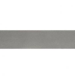 Schuin geweven elastiek 40mm - Grijs