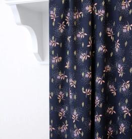Atelier Jupe Atelier jupe - Donkerblauwe lurex viscose met roze bloemen