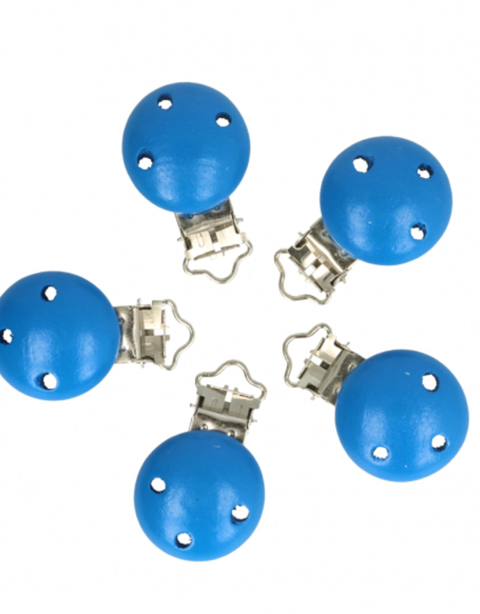 Houten Speenklem - Blauw