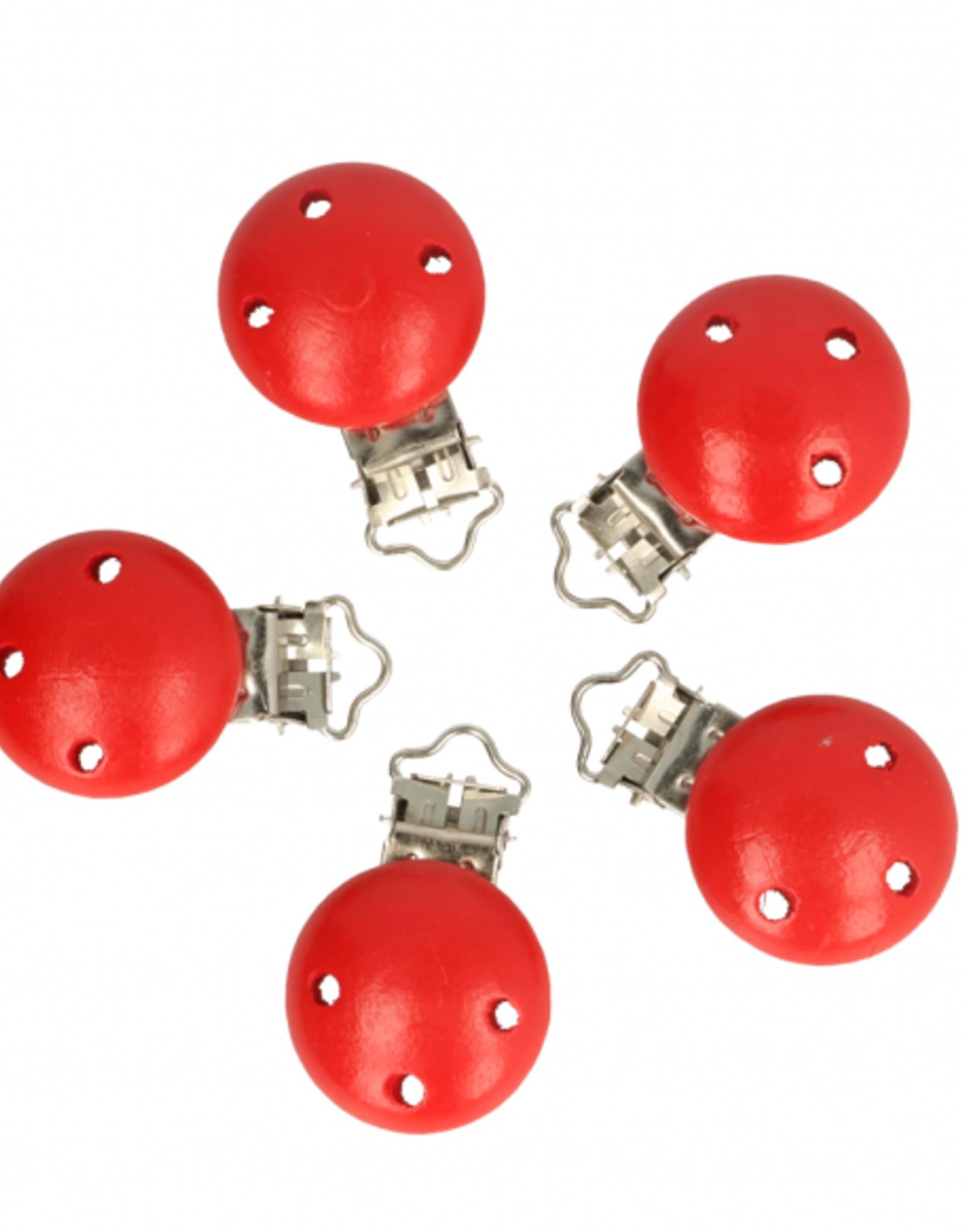 Houten Speenklem - Rood