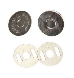 Magneetsluiting 14mm - Zilver - EXTRA PLAT