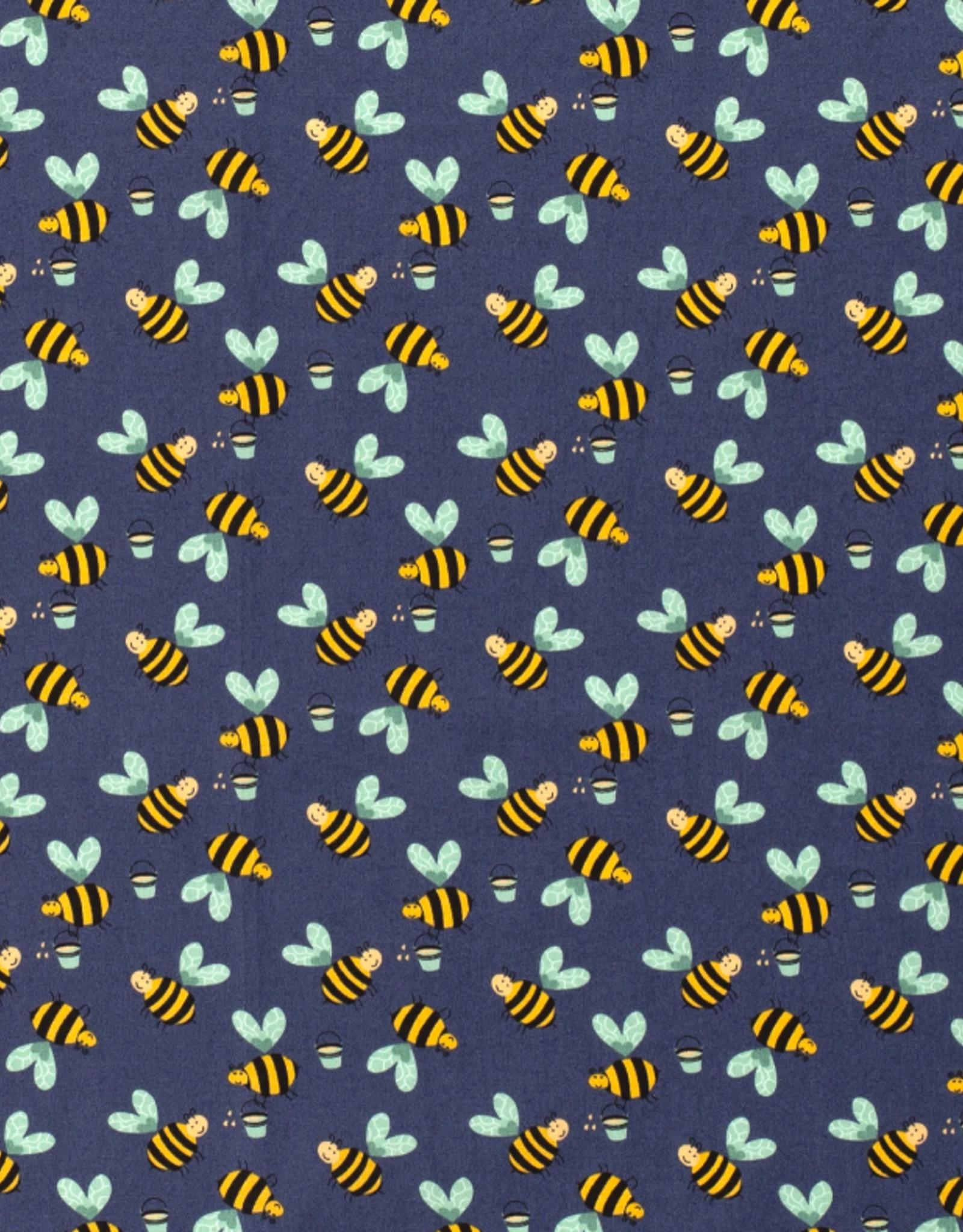 Katoen - Little Bee Navy