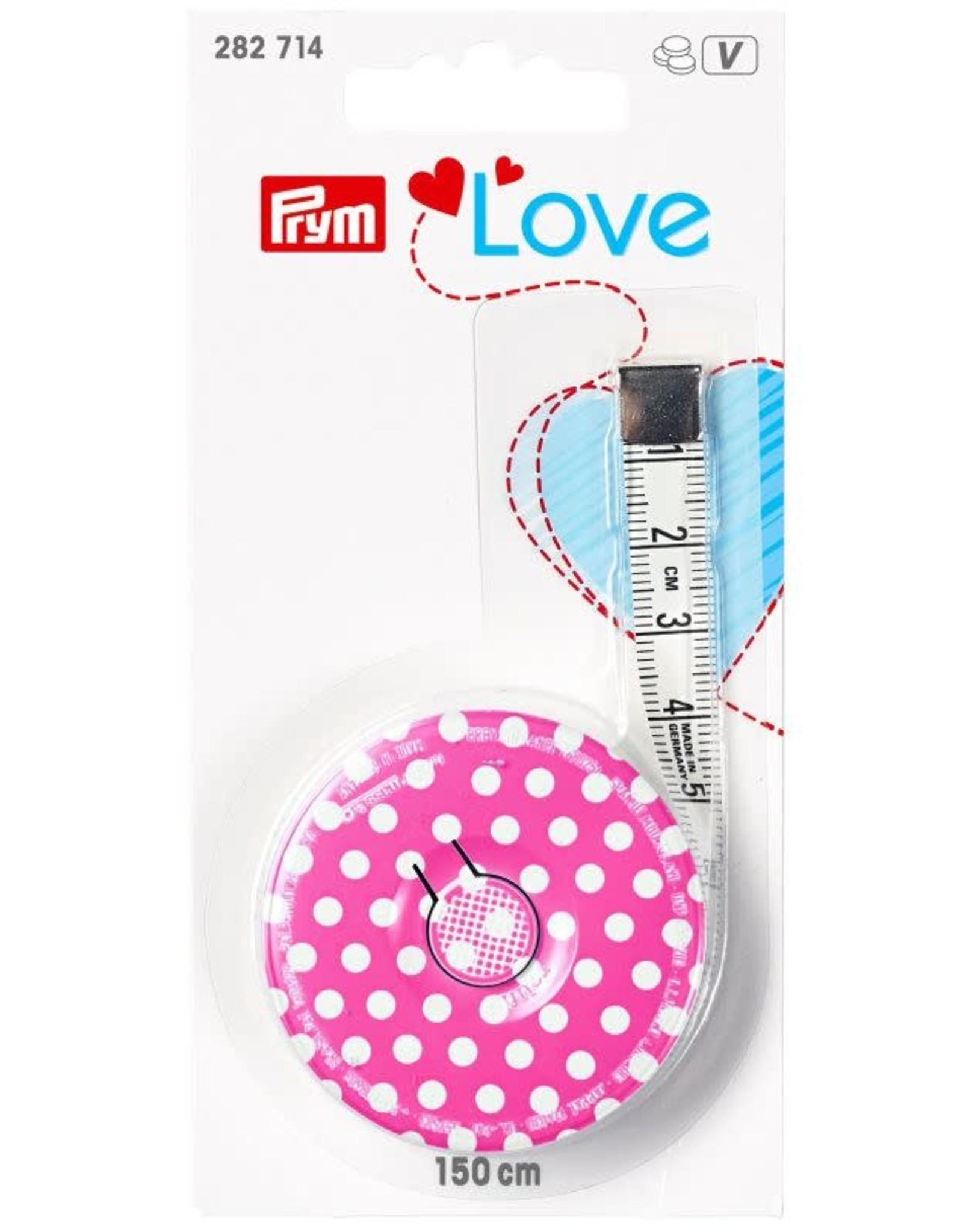 Prym Prym Love 282.714 - Rolcentimeter Roze Dot