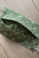 Mondmasker - Geo Lines Khaki - Enveloppe