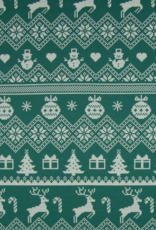 Brushed French Terry - Christmas Time Green