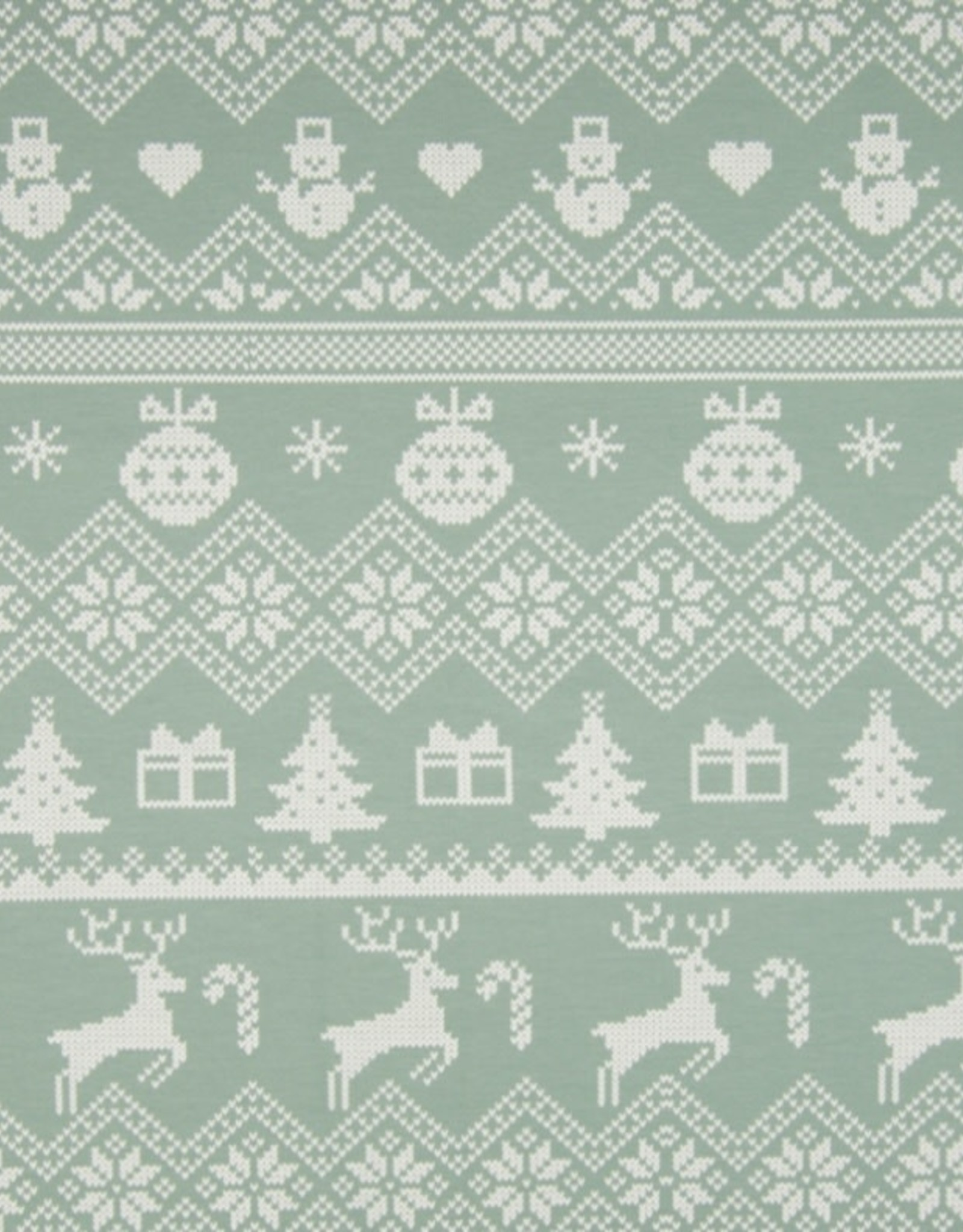 Brushed French Terry - Christmas Time Mint